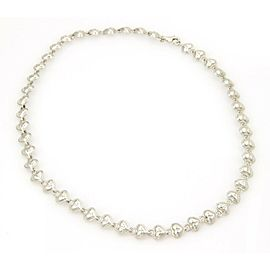 Tiffany & Co. 925 Sterling Silver Padlock Hearts Necklace