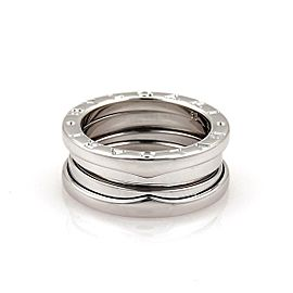 Bulgari Bulgari B Zero-1 18k White Gold 7mm Band Ring Size 50-US 5