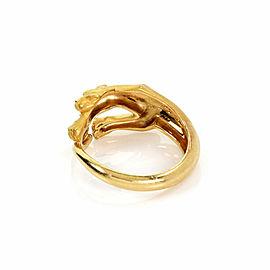 Carrera y Carrera Diamond 18k Yellow Gold Panther Ring Size 5.5