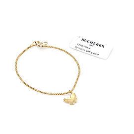 Bucherer Symbols 18k Yellow Gold Butterfly Charm Chain Bracelet