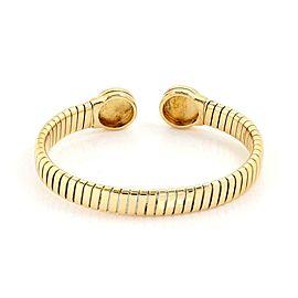 Bvlgari Bulgari 18k Yellow Gold Lapis Engrave Circle Tubogas Flex Bracelet