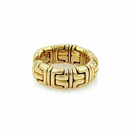 Bulgari Parentesi 18k Yellow Gold 7.5mm Wide Cuff Band Ring