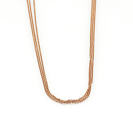 Bucherer 18k Pink Gold Triple Strand Chain Necklace