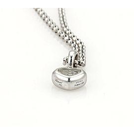 Chopard Happy Diamond 18k White Gold Heart Pendant & Chain