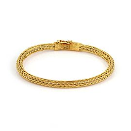 Ilias Lalaounis 18k Yellow Gold 5mm Thick Woven Link Bracelet