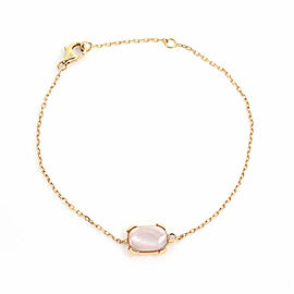 Cartier Tortue Diamond Pink Mother of Pearl 18k Rose Gold Bracelet
