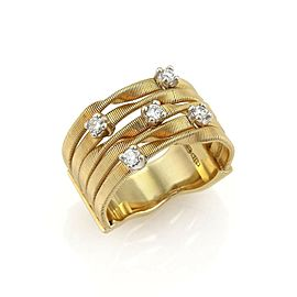Marco Bicego Marrakech Diamond 18k Yellow Gold 5 Row Band Ring