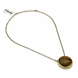 Gurhan Galapagos Tiger's Eye Sterling & Layered 24k Gold Pendant