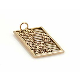 Estate 18k Rose Gold Abacus Calculator Long Rectangular Pendant
