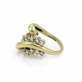 Jose Hess 2.00ct Diamond 18k Yellow Gold Curved Loop Ring
