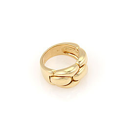 Cartier 18K Yellow Gold 10.5mm Woven Dome link Style Ring - Size 50