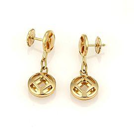 Cartier Pasha 18k Yellow Gold Drop Dangle Earrings