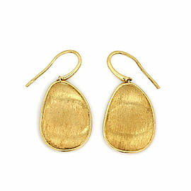 Marco Bicego Lunaria 18k Yellow Gold Oval Design Hook Dangle Earrings