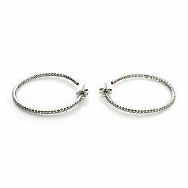 Roberto Coin 1.10ct Inside Out Diamond 18k White Gold Hook Earrings