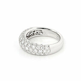 Cartier Mimi 1.30ct Diamonds Platinum Dome Band Ring Size 51 US 5.5 w/Paper