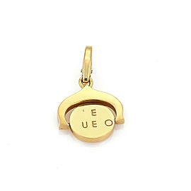 Cartier Spanish Letters I Love You Spinner 18k Yellow Gold Charm Pendant