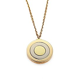 Cartier 18k Tricolor Gold Movable Triple Disc Pendant w/Cert.