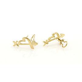 "Tiffany & Co. Paloma Picasso ""Valentine"" 18K YG Open Heart & Arrow Earrings"
