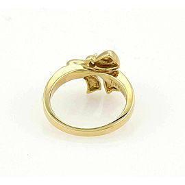 Tiffany & Co. Diamond Bow 18k Yellow Gold Ring - Size 6