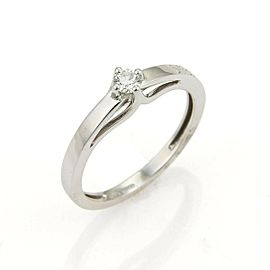 Bliss Damiani Kate Solitaire 0.20ct Diamond 18k White Gold Ring