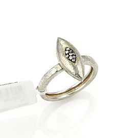 Gurhan Diamond Sterling Silver Marquise Shape Ring