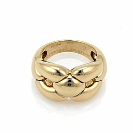 Cartier 18k Yellow Gold Wide Fancy Open Design Band Ring Size 51 US 5.75