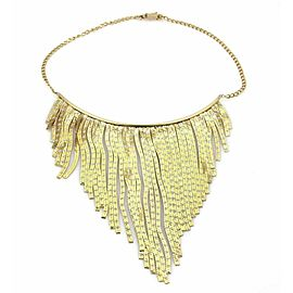 Fringe Drapes 14k Two Tone Gold Choker Necklace