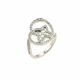 Louis Vuitton Idylle Blossom Diamond 18k Gold Monogram Ring Size 55 US 7