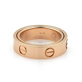 Cartier Love Secret 18k Rose Gold 5.5mm Band Ring Size 50-US 5