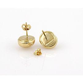 Tiffany & Co. 18K Yellow Gold Circular Designer Stud Earrings