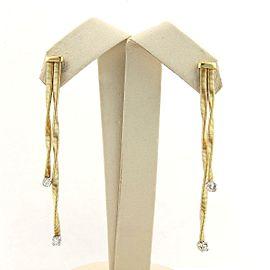 Marco Bicego Diamonds & 18kt Two Tone Gold Double Drop Earrings