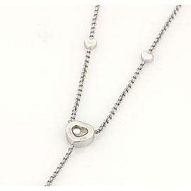 Chopard Happy Diamonds 18k White Gold Heart Pendant Lariat Necklace