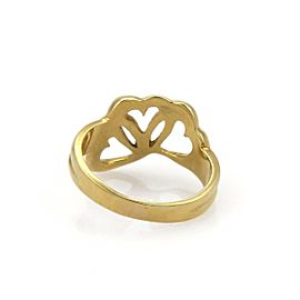 Tiffany & Co. 18k Yellow Gold Triple Hearts Band Ring Size - 5.5