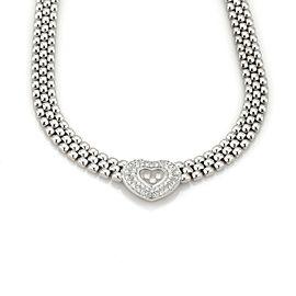 Chopard Happy Diamond 1.25ct Diamonds 18k White Gold Heart Pendant Necklace