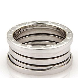 Bvlgari Bulgari B Zero-1 18k White Gold 11mm Band Ring Size EU 59-US 8.5