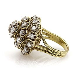 H.Stern 2.75 carat Diamond 18k Two Tone Gold Harem Ring Size - 6.5