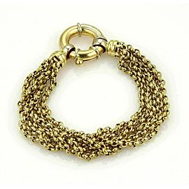 Urbano Five Strand Rolo Link 18k Yellow Gold Bracelet