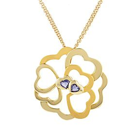 Carrera y Carrera 18K Yellow Gold & Lolite Heart Cluster Large Pendant Necklace