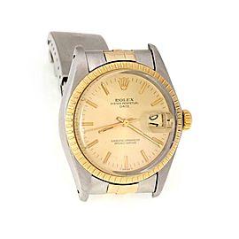 62740 Rolex Oyster Date Just 18k Gold SSteel Automatic Men's Watch 16233