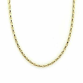 Bvgari 18k Yellow Gold Fancy Link Chain Necklace