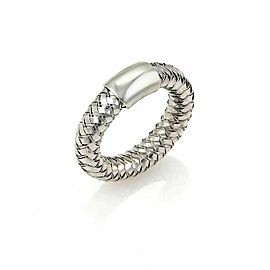 Roberto Coin Basket Woven 18k White Gold Band Ring