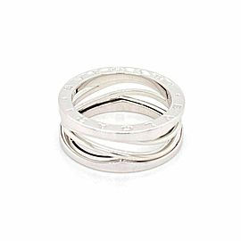 Bvlgari B.zero1 Legend 18k White Gold 9.5mm Wide Wave Band Size 63