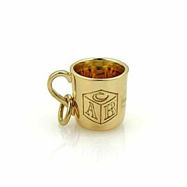 Tiffany & Co. 18k Yellow Gold ABC Baby Cup Charm