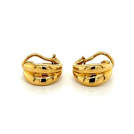 Tiffany & Co. 18k Yellow Gold Leaf Shape Huggie Earrings