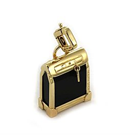 Louis Vuitton Steamer 18k Yellow Gold Onyx Charm Pendant