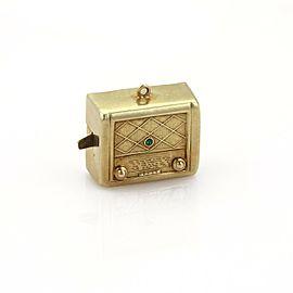 Vintage 14k Yellow Gold Music Box Charm Pendant