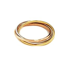 Cartier Trinity 18k Gold 1.5mm 3 Rolling Band Ring Size 57-US 8 w/Cert