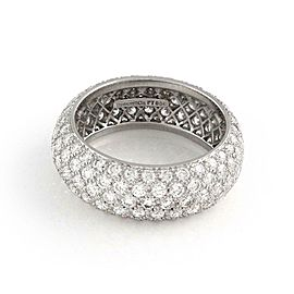 Tiffany & Co Platinum Diamond Etoile 5 Raw Band Ring Size 8 Retail $16,625