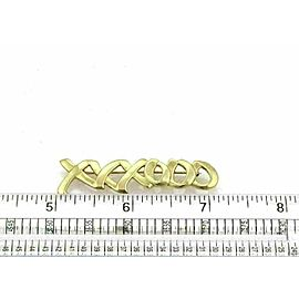 Tiffany & Co. Picasso 18k Yellow Gold XO Brooch Pin