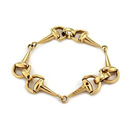 "Roberto Coin 18k Yellow Gold Horse Bit Link Bracelet 7.5"" Long"